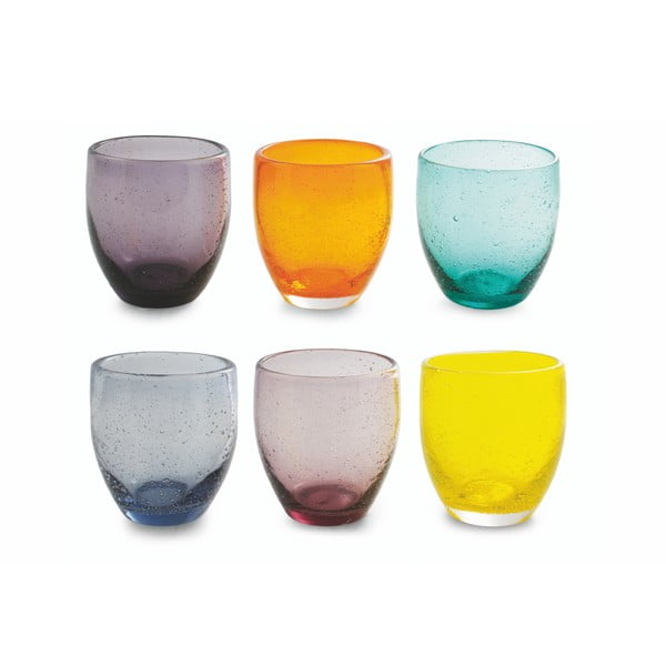 Set 6 pahare colorate Villa d'Este Cascina, 280 ml