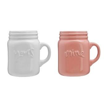 Set 2 căni Premier Housewares Mine & Yours, 360 ml