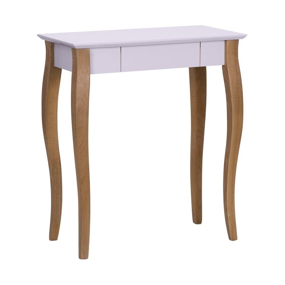 Růžový psací stůl Ragaba Lillo, délka 65 cm