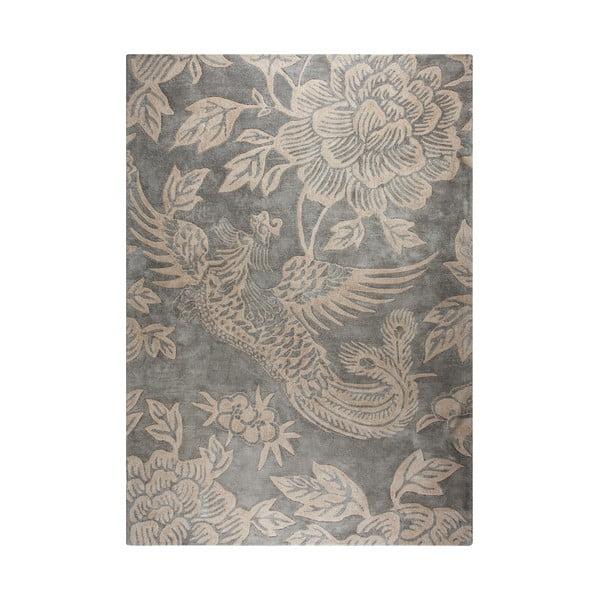 Covor țesut manual Flair Rugs Phoenix, 200 x 290 cm, gri