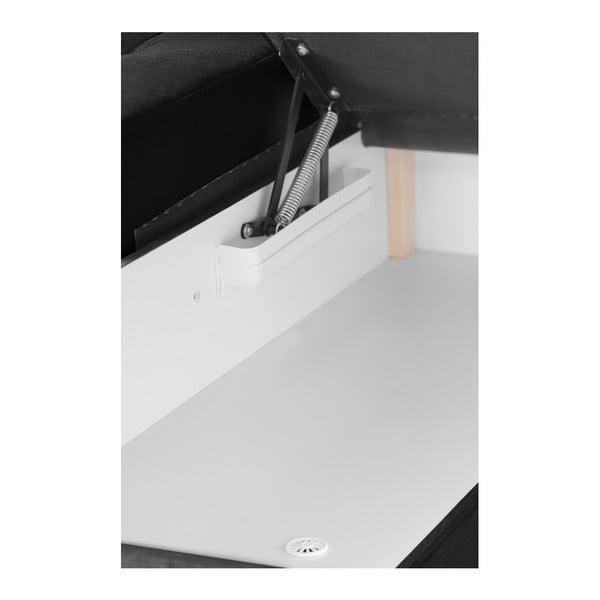 Černá rohová pohovka se sametovým potahem Florenzzi Piero