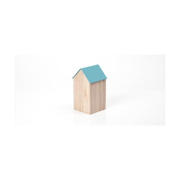 Světle modrý úložný box House Medium