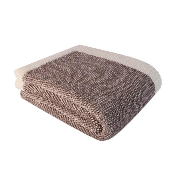 Hnědá bavlněná deka Homemania Clen