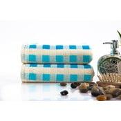 Sada 2 ručníků Liny Blue, 40x80 cm