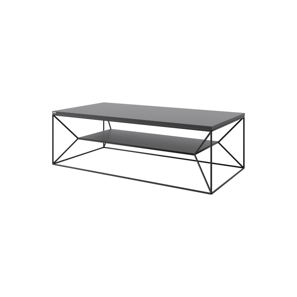 Černý TV stolek Take Me HOME, 120 x 60 cm