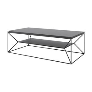 Černý TV stolek take me HOME, 120x60cm