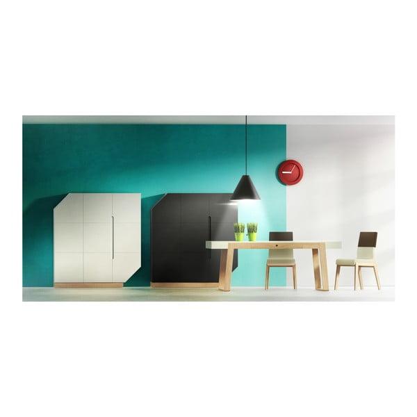 Jídelní stůl z dubového dřeva s bílou deskou a bílými detaily Absynth Magh, 198x100cm