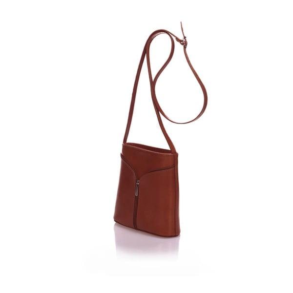 Hnědá kožená kabelka Giulia Massari Calf Little