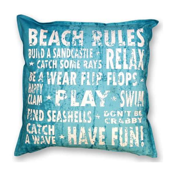 Polštář Beach 45x45 cm, modrý