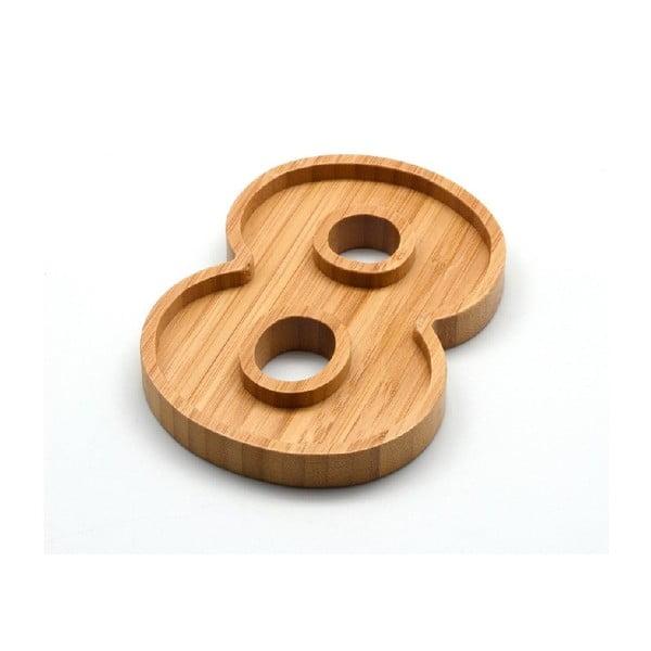 Bambusový servírovací talířek Bambum Numero Eight