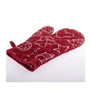 Červená kuchyňská rukavice Dakls