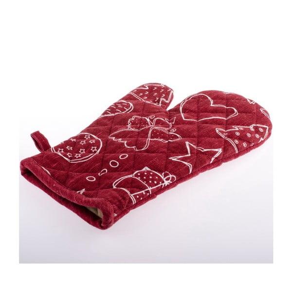 Červená kuchyňská rukavice Dakls, 18 x 28 cm