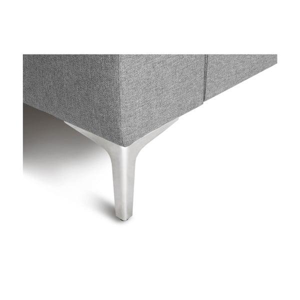 Šedá rohová čtyřmístná pohovka Cosmopolitan Design Cartegena, levý roh