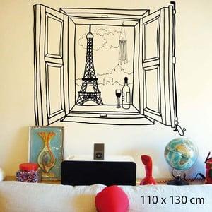 Samolepka Paris Window, 110x130 cm