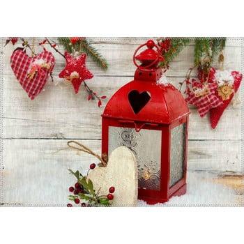 Covor Vitaus Christmas Period Red Rustic Lantern, 50 x 80 cm de la Vitaus