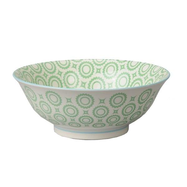 Porcelánová miska Soba Colored Green, 21x7,8 cm