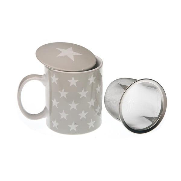 Hrnek na čaj s poklopem a sítkem VERSA Geometrico