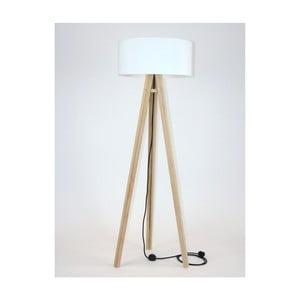 Lampadar cu abajur alb și cablu negru Ragaba Wanda