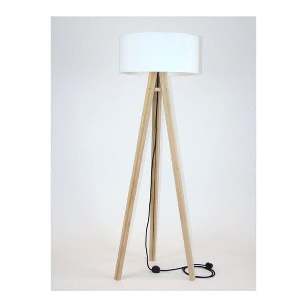 Wanda állólámpa fehér lámpabúrával és fekete kábellel - Ragaba