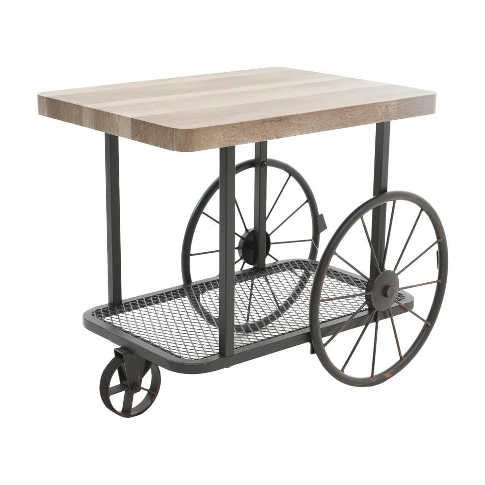 Odkládací stolek s deskou z březového dřeva InArt Aetos