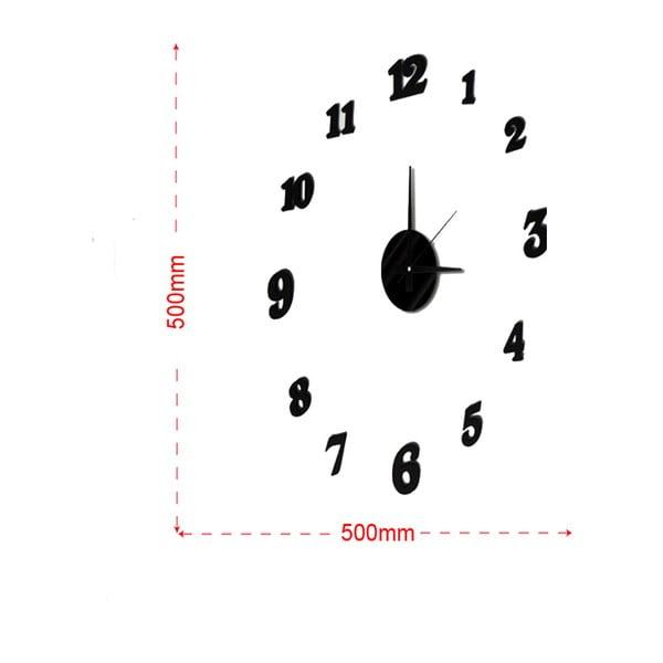 Nástěnné nalepovací hodiny Mauro Ferretti Numbers, ⌀50cm