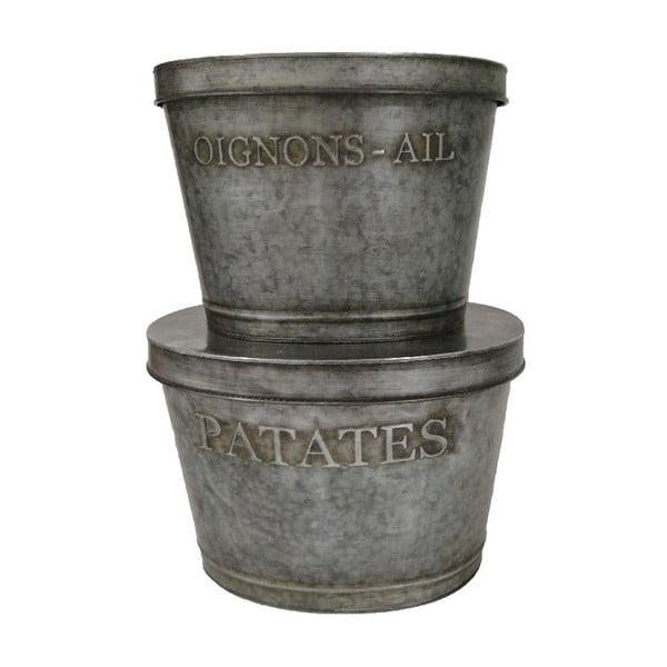 Sada 2 kovových boxů Antic Line Patatas