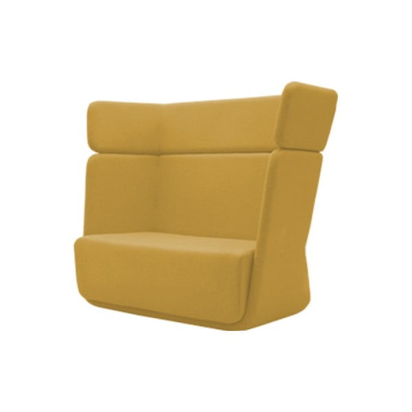 Żółty fotel Softline Basket Vision Yellow