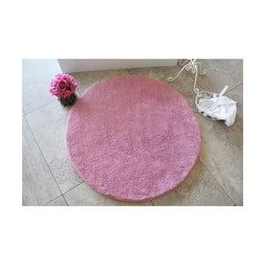 Růžová koupelnová předložka Confetti Bathmats Colors of Pink, ⌀ 90 cm