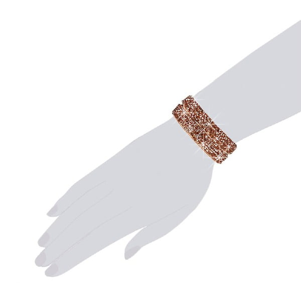Náramek Brown Shine, 42 cm