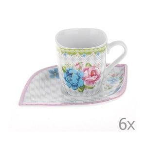 Set hrnků Coffee Roses, 6 ks