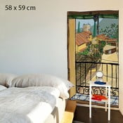Samolepka Window with a Sunblind, 58x59 cm