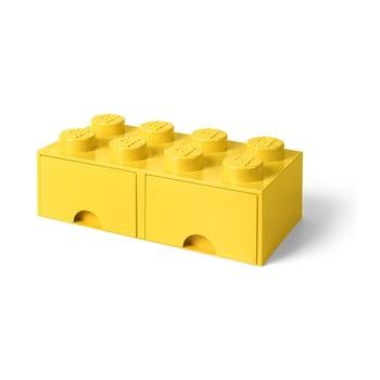 Cutie depozitare cu 2 sertare LEGO®, galben de la LEGO®