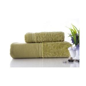 Set dvou ručníků Samba Green, 70x140 a 50x90 cm