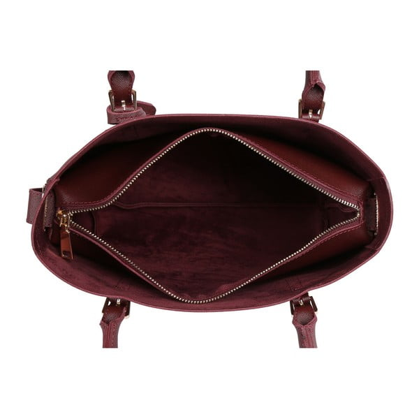 Tmavě červená kabelka Beverly Hills Polo Club Dina