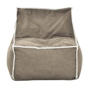 Pískový modulový sedací vak s krémovým lemem Poufomania Funky