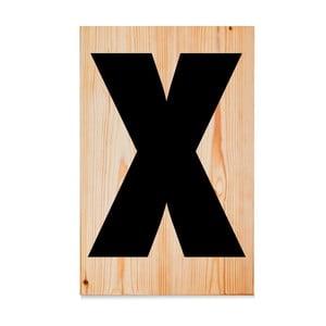 Dřevěná cedule Letters X