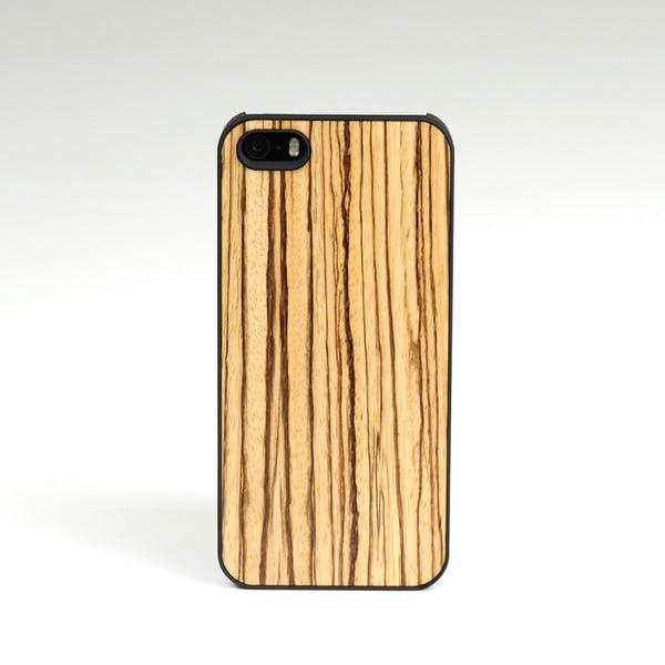 Dřevěný kryt na iPhone 5, zebrano