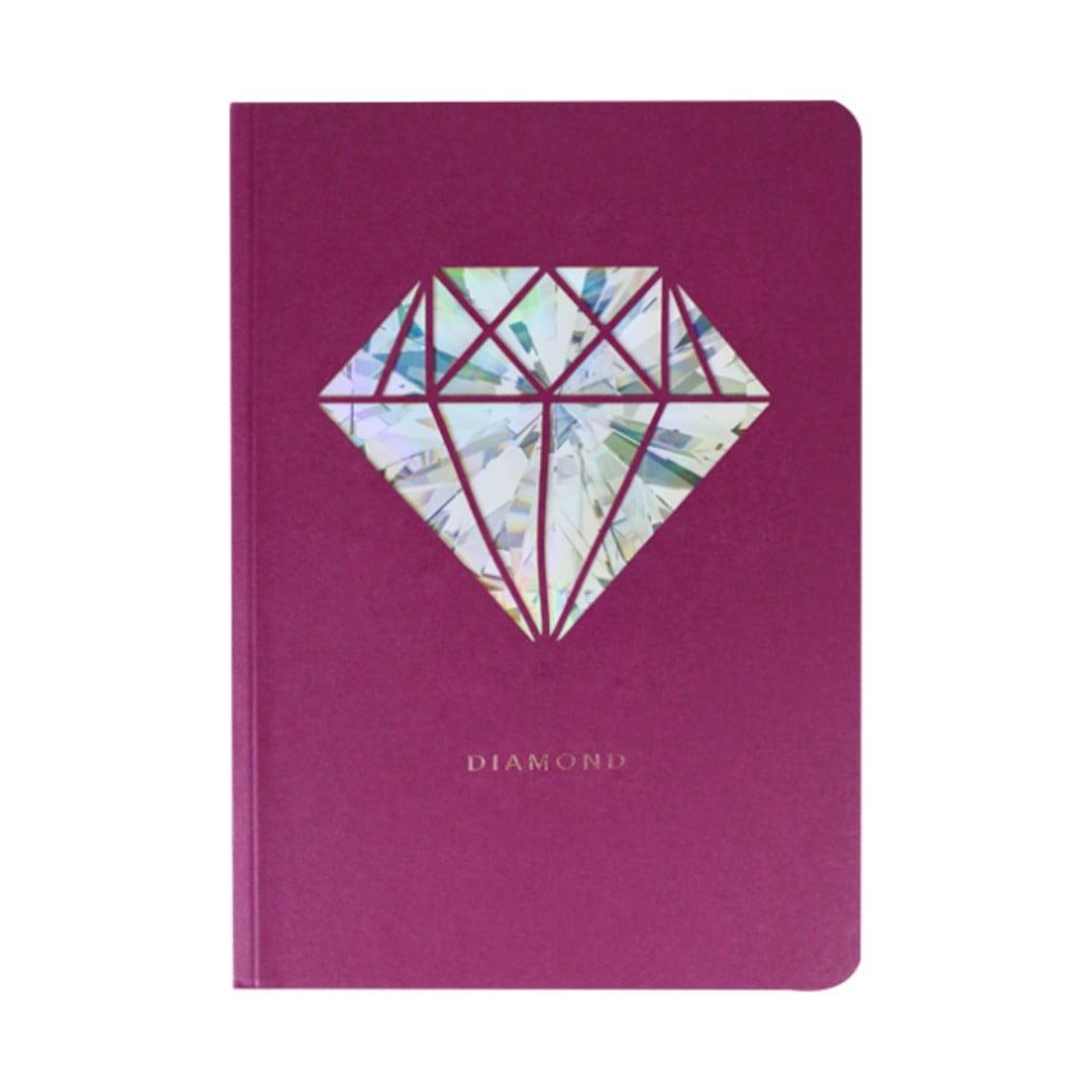 Zápisník A6 Portico Designs Diamant, 124stránek
