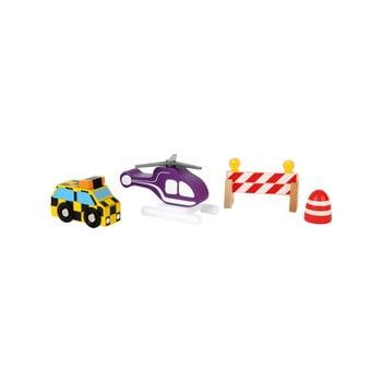 Set jucării din lemn pentru copii Legler Airport de la Legler