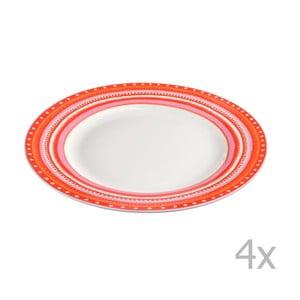 Set 4 farfurii din porțelan Oilily 22 cm, roșu