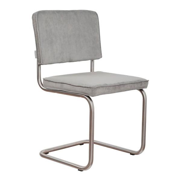 Sada 2 světle šedých židlí Zuiver Ridge Brushed Rib