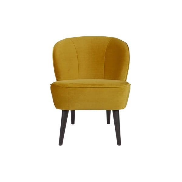 Sara mustársárga fotel - WOOOD