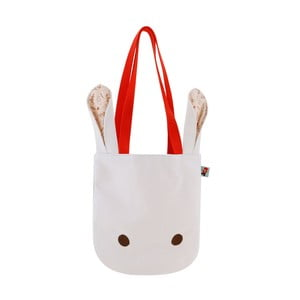 Bílá plátěná taška Santoro London Poppi Loves White Bunny