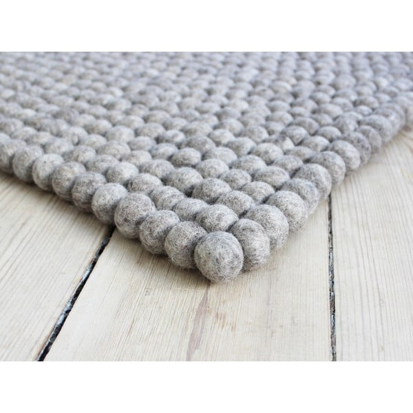 Piaskowobrązowy wełniany dywan kulkowy Wooldot Ball Rugs, 120x180 cm