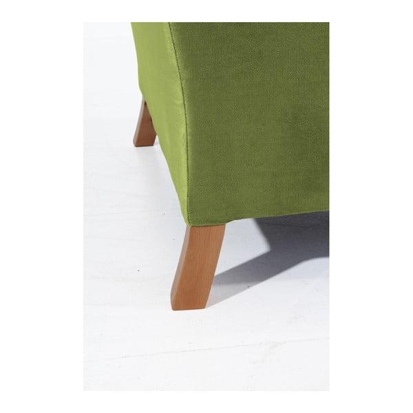 Olivově zelené křeslo ušák Max Winzer Harvey Velvet