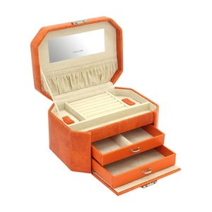 Oranžová šperkovnice Friedrich Lederwaren New Candy
