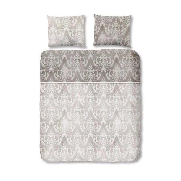 Obliečka na jednolôžko z bavlneného saténu Descanso Grey, 135 x 200 cm