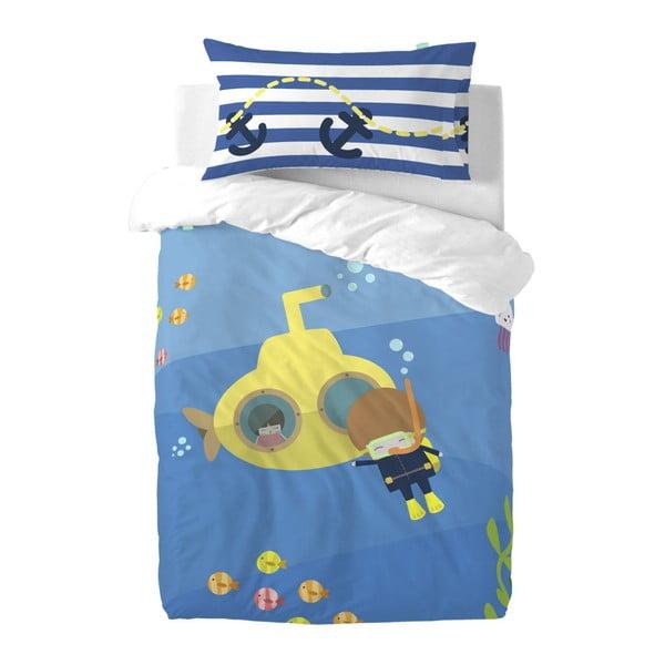 Dětské povlečení z čisté bavlny Happynois Yellow Submarine, 100x 135cm