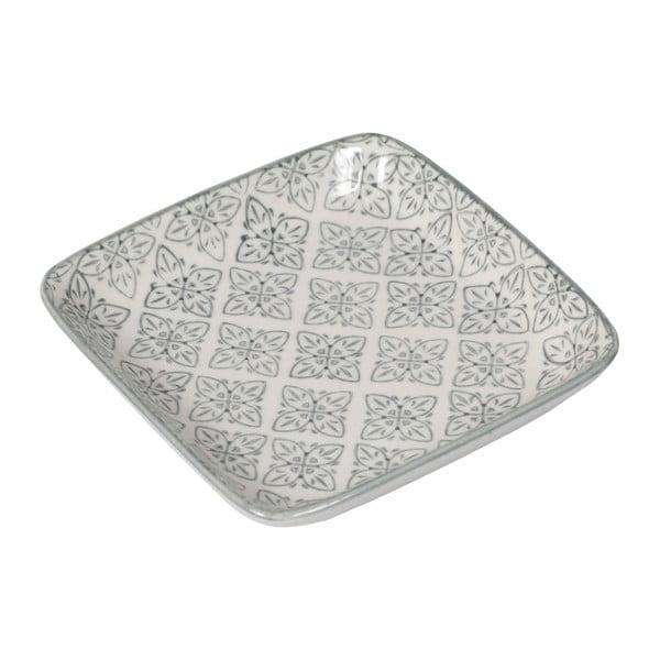 Sada 4 porcelánových talířů Old Floor Square, 12.5 cm