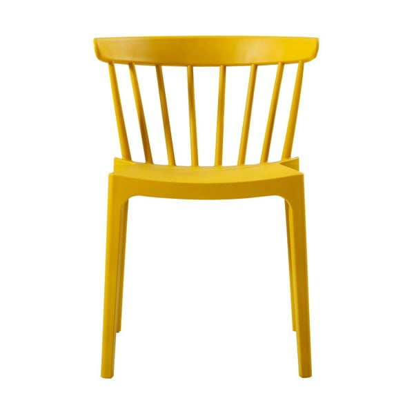 Scaun potrivit și pentru exterior WOOOD Bliss, galben